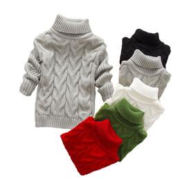 Autumn Sweater Top Baby Enfants Vêtements Garçons Filles Tricoté Pull Toddler Pull Enfants Printemps Porter 2 3 4 6 ans en Solde