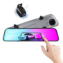 "12 touch screen UK - 12"" touch screen super slim stream video dashcam car DVR digital rearview mirror 2.5D glass 2K+1080P resolution 170°+140° wide view angle"