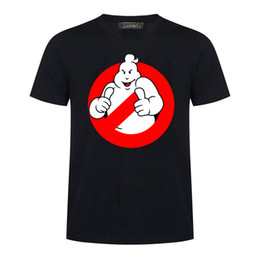 2018 Ghostbusters Movie Cotton T-shirt Hombres de manga corta camisetas divertidas Ghost Busters Tees Hombres Ropa MC47