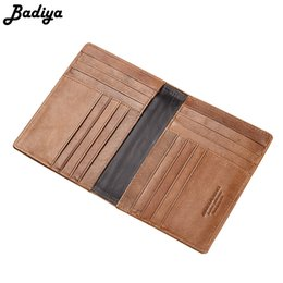 ticket wallets Australia - Vintage Passport Cover Genuine Leather Men Card Case Multi Card Slots Holder Airline Ticket Wallet Large Capacity Clutch Male