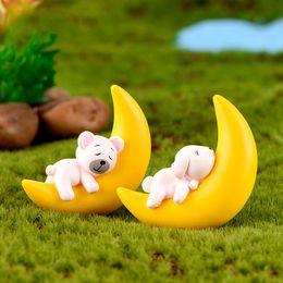 4pcs//lot Bear Figures Mini Fairy Garden Animals Statue Miniature KA