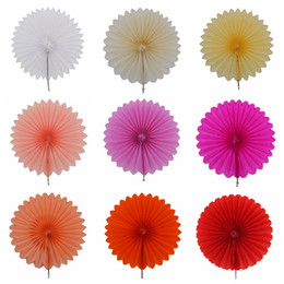 China 1Pcs Small 10cm Tissue Paper Fans Flowers Pompom Balls Round Lanterns DIY Craft Hanging Small Flower Wedding Party Decoration 7Z suppliers