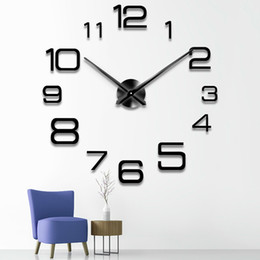 $enCountryForm.capitalKeyWord Australia - 2019 Free Shipping New Clock Watch Wall Horloge 3d Diy Acrylic Mirror Stickers Home Decoration Living Room Quartz Needle Saat