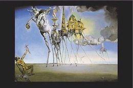 Dali Arts NZ - DALI - TEMPTATION OF ST ANTHONY Art Silk Poster 24x36inch 24x43inch 0585