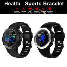 Smart Watch Ios Heart Sleep Australia - Smart Watch Heart Rate Bracelet Sleep Monitor Fitness Tracker Compass Watch Android IOS Waterproof Color Screen Sport Band