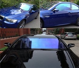 decorate ceramics NZ - 99% UV Proof Ceramic Window Film Wrap Car Clear Glass Chameleon Color Self Adhesive Stickers Decorate Vehicle 1.52x8m 2rKK#