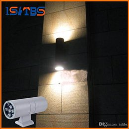 outdoor wall lights led Canada - Free ship led 6W 12W 18W 24W 36W up and down outdoor wall light AC 85-265V Street IP65 Waterproof courtyard garden Decorative lights