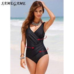 $enCountryForm.capitalKeyWord Australia - Samegame 2019 New Arrival Solid Swimwear Women Swimsuit Plus Size One Piece Beachwear Swim Wear Backless Monokini M-4xl Black Y19062801