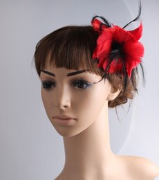 Brown fascinator hat online shopping - elegant feather fascinator hair accessories Good as party hats wedding hats brooches multicolor available MYQ099
