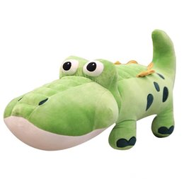Crocodiles Alligator Toys Australia - Cute Crocodile Doll Big alligator Plush Toy Cute Pillow Doll for Children Gift Decoration 33inch 85cm
