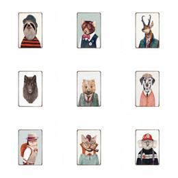 $enCountryForm.capitalKeyWord Australia - Tin Signs Mr. Elk Cat dog wolf Aesthetic Animal painting Old Wall Metal Tin poster Quiet Restaurant Master BedRoom k1