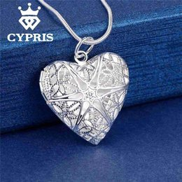 $enCountryForm.capitalKeyWord NZ - Nlm99 Wholesale- Best Selling Fashion Pendant Heart Locket Plate Charm Necklace silver 13styles Cheap wholesale bulk album for picture