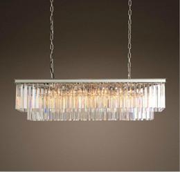 rectangular pendant chandeliers 2019 - Modern Rectangular Lustre Crystal Chandelier Lighting Crystal Chandeliers Luminaria De Techo Hanglamp Lighting Fixtures