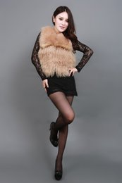 Really Dresses Australia - Cool 2019 Pattern Haining Leather And Fur Suit-dress Vest Fox Tan Really Hair Products