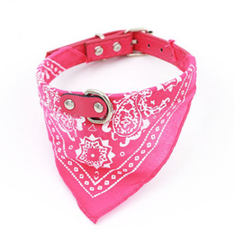 cat collar cute Australia - Adjustable Personalized Cute Pet Bandanas Scarf Collar for Dog and Cat