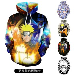 Men aniMe sweater online shopping - 2019 new anime with the same body around the body printed sweater Autumn explosion models D printing lovers with a sweater