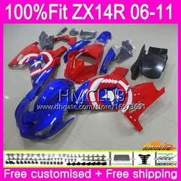 $enCountryForm.capitalKeyWord Australia - Injection For KAWASAKI NINJA ZX-14R ZX 14R 2006 2007 2008 2009 2010 2011 72HM.56 ZZR1400 1400 ZX14R 06 07 08 09 10 11 Fairing Cool Red Blue