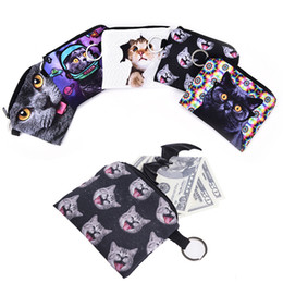 Discount coins holders - Fashion Cute Cat Bag Coin Pu Leather Cat Coin Purse Pouch Children Purse Holder Women Wallet Cute Kids Cartoon Wallet