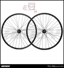bike wheel straight Australia - 29er MTB XC carbon tubeless wheels 28mmm hookless 24mm deep straight pull wheelset 15X100 12X142 10s 11s 12s