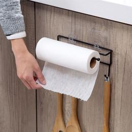 $enCountryForm.capitalKeyWord Australia - Meyjig Kitchen Tools Organizer Iron Storage Rack Bathroom Towels Hanger Roll Paper Holder Cupboard Hanging Shelf Hooks On Wall SH190709