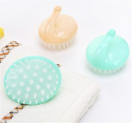 scalp body massager UK - New Beauty Bath Spa Slimming Massage Brush Body Massager Shampoo Scalp Massage Brush Hair Washing Comb Body Shower Brush