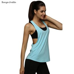 brown vests for women NZ - Women Clothes Sexy Summer Fitness Tank Tops Loose Sleeveless fast drying Vest Singlet for women t-shirt ND245