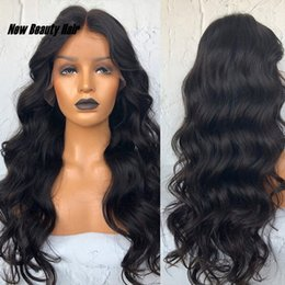 blue wig high quality NZ - High Quality Black Long Loose Wave Synthetic Lace Front Wigs with Baby Hair 180% Full Density Heat Resistant Wigs For Women 26 Inches