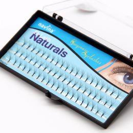 12mm Individual False Eyelash Lashes NZ - 6 Roots 8mm 10mm 12mm Natural Soft Fashion False Eyelash Extension Deluxe Lashes Volume Fake Eyelashes Fans