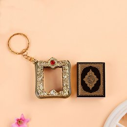 $enCountryForm.capitalKeyWord Australia - 2019 Creative Mini Ark Islam Quran Book Pendant Muslim Cellphone Keychain Key Folder Bag Purse Car Pendant Decor Silver Accessory M461A