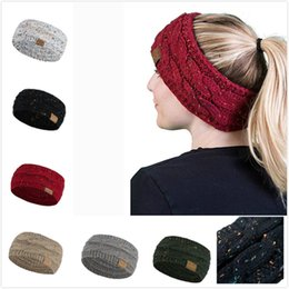 knitted elastic band NZ - 2019 New Fashion Men Women Hair ball Knitting Hat Popular Autumn Winter Elastic Elegant Handmade Sport Hair Band Turban