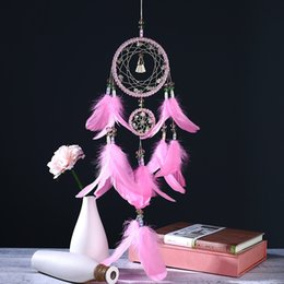 Fairy Blocks Australia - New Dreamcatcher Wind Chimes Fashion Feather Pendant Dream Catcher Creative Wall Hanging Decoration Girfriend gifts DHL Free Shipping