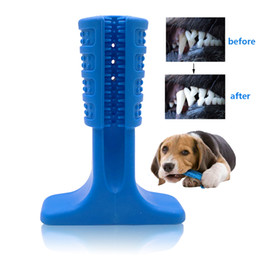 Stick Dog Australia - Silicone Dog toothbrush pet chewing toy Teddy Small Dog Toothbrush Stick Perfect Dog Teeth Care Products Cleaning Mouth