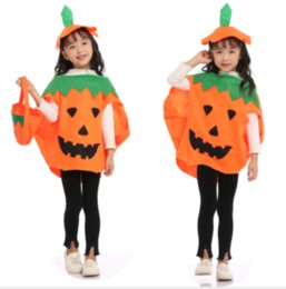 Discount adult baby halloween costumes 2019 Cute Children Baby Adult Halloween Cosplay Clothes Fancy Ball Style Performance Costume Sleeveless Kids Baby Pumpkin Suit Dress