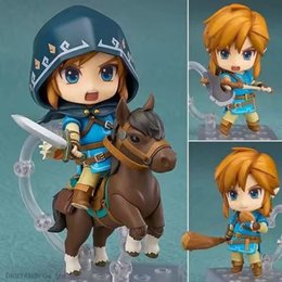 Legend Zelda Figures Australia - NEW hot 10cm Legend of Zelda horse riding Breath of the Wild Link Action figure toys collection doll Christmas gift with box