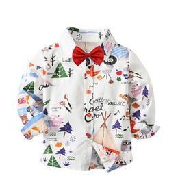 Toddler Boy 4t Australia - Fashion flower printed boy shirt long sleeve tops boys cotton shirts blouses Breathable kids children toddler shirt for 2-7years
