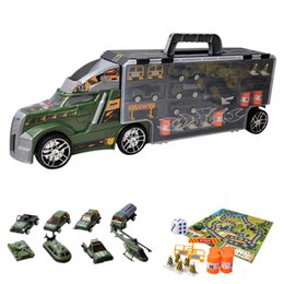 $enCountryForm.capitalKeyWord UK - 4Types Portable Container Truck Simulation Car Container Truck with Alloy Small Vehicle Toys Set for Children