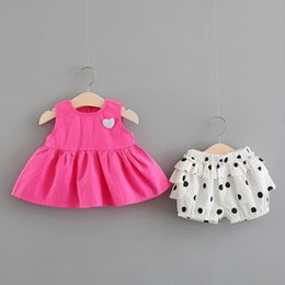 years old baby girl dresses NZ - 0-1 year-old baby girl summer dress Korean version children's dress 2-3-4 year-old spring and autumn girl dress baby princess suit