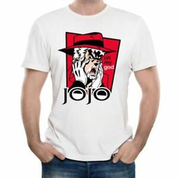 Print Shirt Design Anime Australia - JoJo Bizarre Adventure T Shirt Design Manga Anime T-shirt Mens Fashion Print tee