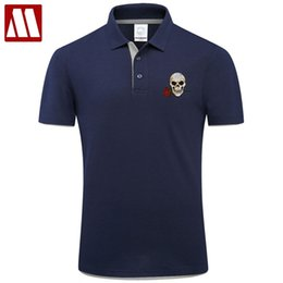 $enCountryForm.capitalKeyWord NZ - 2019 Fashion Brand Clothing Summer Skull Polo Shirt New Style Rose Embroidery Casual Contton Short Sleeve Big Size Polos Shirts Q190426