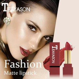 Brown Nude Lipsticks Australia - Matte Lipstick Waterproof Pigment Brown Nude Long Lasting Lipstick Matte Makeup Pintalabios Rojo Labial Mate Pinta Labios #YL10