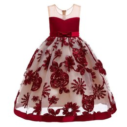 $enCountryForm.capitalKeyWord Australia - Princess Dress For Girls Clothing Flower Girls Dresses For Party Wedding Formal Children Communion Gown Tutu Kids Clothes