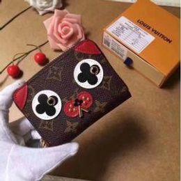 $enCountryForm.capitalKeyWord Australia - M62310 Women Dog Canvas Coin Zipper Wallet Purse Bag Wallet Purse Belt Bags Mini Bags Clutches Exotics