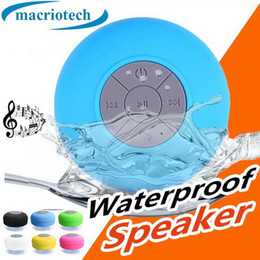 shower iphone speaker Australia - Portable Subwoofer Shower Waterproof Wireless Bluetooth Speaker Car Handsfree Receive Call Music Suction Phone Mic For iPhone