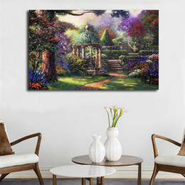 $enCountryForm.capitalKeyWord NZ - Gardens By Thomas Kinkade Wallpaper HD Poster Canvas Painting Oil Framed Wall Art Print Pictures For Living Room Home Decoracion Framework