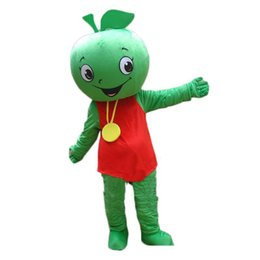 $enCountryForm.capitalKeyWord Australia - High quality hot Fruit Mascot Little Green Apple Mascot Costume Halloween Birthday Party anime Adult Size Free Shipping