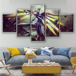 $enCountryForm.capitalKeyWord Australia - Wall Art Canvas Paintings Home Decoration Hd Prints 5 Pieces SYMMETRA Picture Game Figures Poster For Bedroom Modular Artworks
