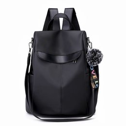 Wholesale 2019 Fashion Women Travel Backpack Black Khaki anti theft bag Oxford Cloth Large capacity backpack For ladies Shopping