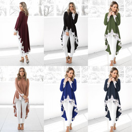 Woman dress clothes lace online shopping - Women Fashion Cotton Clothes Solid Color White Lace Sexy Irregularity Hemline Dress Soft Autumn Spring Long Sleeve Clothing my hh