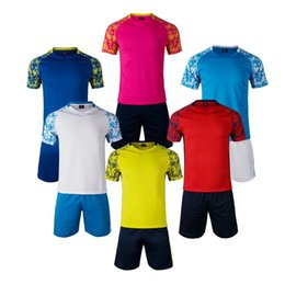 football kits free shipping 2020 - Hot sale Soccer Jerseys men Football training suit football Jersey shirt kit set uniform short sleeve top shorts suit Fr