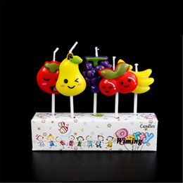 cake decorating supplies NZ - fruit party decor candles for cakes decorating supplies children baby first birthday girl party fruit decoration birthday candle